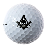 Widow's Son Square & Compass Masonic Golf Ball Three Pack