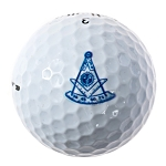Past Master with Quadrant & Square Masonic Golf Ball Three Pack