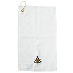 Past Master with Compass Quadrant & Square Embroidered Masonic Golf Towel
