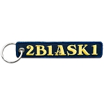 2B1ASK1 Masonic Embroidered Key Chain - [Blue & Gold]