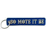 So Mote it Be Masonic Embroidered Key Chain - [Blue & Gold]
