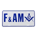 F&AM Masonic License Plate