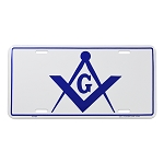Square & Compass Masonic License Plate