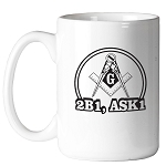 2B1 ASK1 Square & Compass Round Masonic Coffee Mug - [11 oz.]