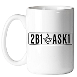2B1ASK1 Square & Compass Masonic Coffee Mug - [11 oz.]