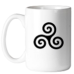 Celtic Triskelion Masonic Coffee Mug - [11 oz.]