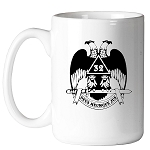Deus Meumque Jus 32nd Degree Double Headed Eagle Scottish Rite 11 oz. Coffee Mug