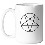 Pentacle Point Down Masonic Coffee Mug - [11 oz.]