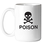 Poison Skull & Crossbones Masonic Coffee Mug - [11 oz.]