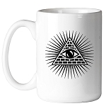Shining Triangle All Seeing Eye 11 oz. Coffee Mug