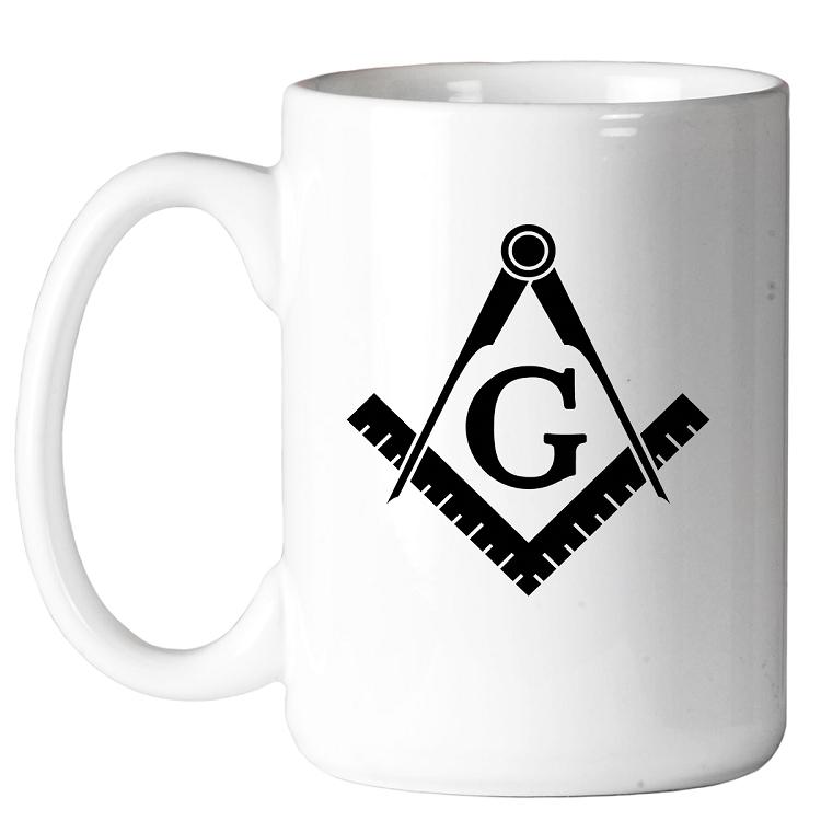Coffee Mug Traditional Square /& Compass Masonic 11 oz