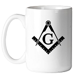 Square & Compass Basic 11 oz. Coffee Mug