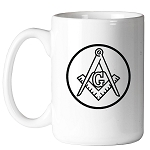 Square & Compass Circle 11 oz. Coffee Mug