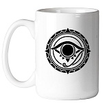 All Seeing Eye Round Masonic Coffee Mug - [11 oz.]