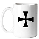 Teutonic Cross Masonic Coffee Mug - [11 oz.]