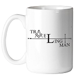 Traveling Man 11 oz. Coffee Mug