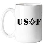 United States Air Force Square & Compass Masonic Coffee Mug - [11 oz.]