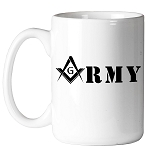 United States Army Square & Compass Masonic Coffee Mug - [11 oz.]