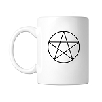 Pentacle Point Up Masonic Coffee Mug - [11 oz.]