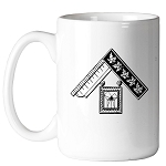 Past Master with Euclid's 47th Problem 11 oz. Coffee Mug