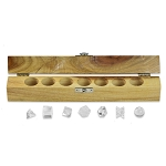 Platonic Solids Quartz Crystal 7 Piece Sacred Geometry Set with Gift Wood Box