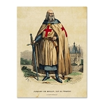 Jacques de Molay Masonic Postcard