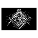 Shining Square & Compass All Seeing Eye Masonic Poster - [11