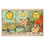 The Moon, Star, and Sun Tarot Cards Poster - [11'' x 17'']