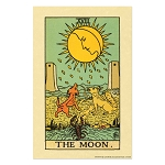 The Moon Tarot Card Poster - [11'' x 17'']