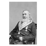 Albert Pike Masonic Poster - [11'' x 17'']