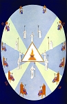 The Contents of the Zodiacal Egg Masonic Poster - [11'' x 17'']