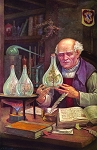 Paracelsus Performing the Experiment of Palingenesis Masonic Poster - [11'' x 17'']