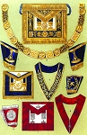 Grand Lodge of England - Grand Officers' Clothing Masonic Regalia Poster - [11'' x 17'']