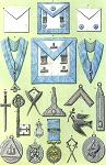 Grand Lodge of England Private Lodge Jewels and Clothing Masonic Regalia Poster - [11'' x 17'']