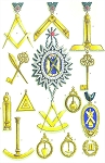 Grand Officers' Jewels of the Grand Lodge of Scotland Masonic Regalia Poster - [11'' x 17'']