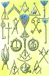Scottish Private Lodge Jewels - Lodge of Edinburgh - Mary's Chapel Masonic Regalia Poster - [11'' x 17'']
