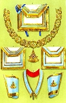 Regalia of the Grand Officers of the Grand Lodge of Ireland Masonic Regalia Poster - [11'' x 17'']