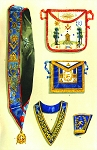 Grand Lodge of Greece Masonic Regalia Poster - [11'' x 17'']