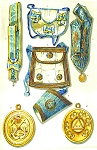 Grand Lodge Sweden and Grand Orient of Portual ''Lusitano'' Masonic Regalia Poster - [11'' x 17'']