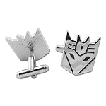 Transformer Decepticon Cuff Link Pair - [Silver][7/8'' Tall]
