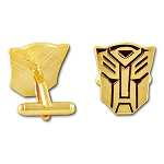 Transformer Autobot Cuff Link Pair - [Gold][7/8'' Tall]