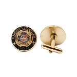 Knights Templar Black & Gold Masonic Cuff Link Pair - [3/4