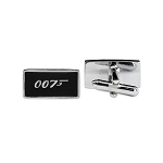 James Bond 007 Cuff Link Pair - [Black & Silver][1