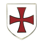 Knights Templar Crusader Red Cross White Shield Masonic Lapel Pin - [White & Red][1