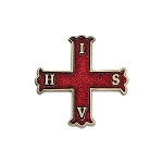 Knight of the Red Cross of Constantine Masonic Lapel Pin - [Red & Gold][1'' Tall]