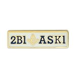 2B1ASK1 White Masonic Lapel Pin - [1