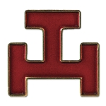 Royal Arch Red Masonic Lapel Pin - [1