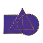 Cryptic Council Purple Masonic Lapel Pin - [1