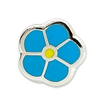 Forget Me Not Lapel Pin - [Blue & Silver][1/4