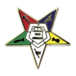 Order of the Eastern Star Masonic Lapel Pin - [3/4